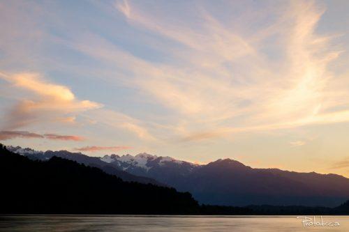 La paisible côte ouest de l'ile Sud, Nouvelle-Zélande