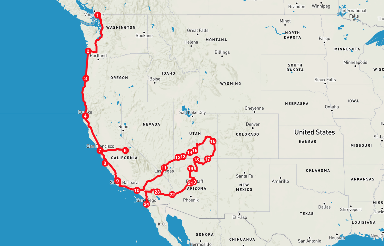 Voyage En Van Dans L Ouest Americain Notre Itineraire Nos Coups De Coeurs Nos Conseils Pour Economiser Et Plus Encore Destination Aventure